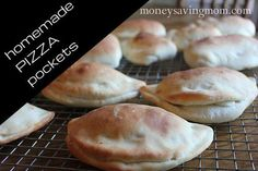 Homemade pizza pockets for the freezer
