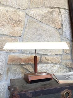 Vintage Desk Lamp Panasonic Fluorescent Mid Century by OneDecember, 42.00