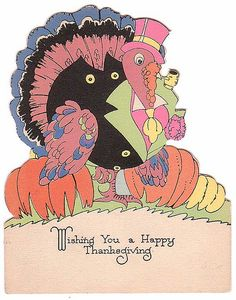 1920 Rust Craft Thanksgiving card vintag card, thanksgiving cards, general card