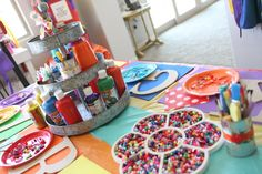 party love ♥: Ella's 6th Rainbow and Hot Air Balloon Birthday Party