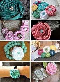 Tutorial fabric flowers