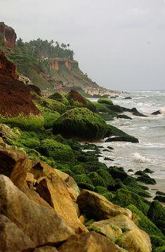 Varkala cliff, India