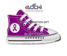 Aliexpress.com : Buy Free Shipping Newest Best Selling High Quality Pancreatic Cancer Awareness High Top Sneaker Shoe Purple Ribbon Lapel Pins from Reliable Lapel Pins suppliers on YiXiang Enterprise INC