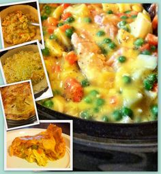 Crock Pot Chicken Pot Pie - You can put the mix in a pie crust or just serve over biscuits... soooooo goooooood!