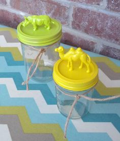 Decorative Animal Storage Mason Jar - Camel and  Rhino Mason Jars - Kitchen Decor - Home Decor  - Nursery Decor - Gift - Bathroom Decor