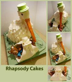 stork cake, 3d cake