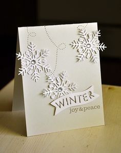 Winter Joy & Peace Card by Maile Belles for Papertrey Ink (October 2014)
