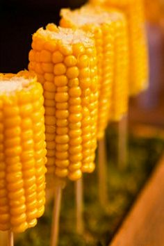 Corn on the cob looks great when presented right!