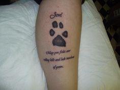 dog print tattoo - Google Search