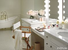 Inside Lauren Conrad's Beverly Hill Penthouse - The Bathroom from #InStyle