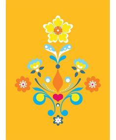swedish design, folk art, colors, inspir, hous