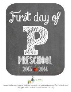 FREE back2school Preschool printable