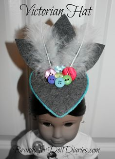 Camp Doll Diaries – Victorian Doll Hat — Doll Diaries