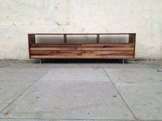 48  Long Low MixedWalnut Media Console by jeremiahcollection, $1900.00