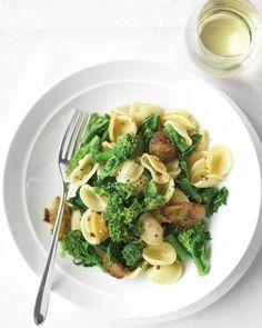 Orecchiette with Chicken Sausage and Broccoli Rabe Recipe