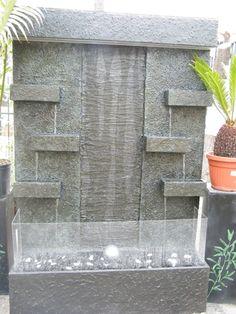 Muros de agua cascadas de pared on pinterest fuentes - Fuentes de pared modernas ...