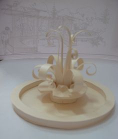Как сделать фонтан из бумаги