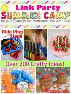 Over 200 great ideas for kids crafts and fun!  A great collection!
