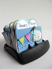 A Birthday Rolodex that you can make. It's easy to add to, & you don't always have to rewrite it on next year's calendar!!! Awesome!!