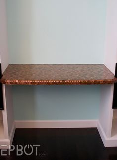 Office desk covered with pennies