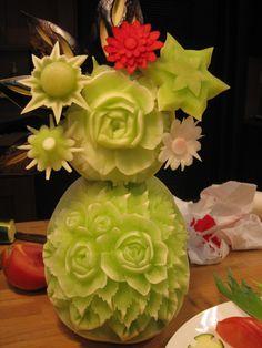 Flower food art.