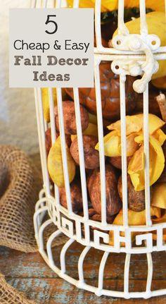 5 Cheap & Easy Fall Decor Ideas