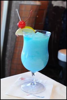 Blue's Blue Margarita onboard the #CarnivalSunshine is the perfect blend of citrus-y sour lemonade, tequila, & blue curacao, made to make a day on the water simply sublime.  Ingredients:   1.25 OZ Tequila  .75 OZ Blue Curacao  1.75 OZ Frozen Lemonade Mix  1.75 OZ Simple Syrup  1 Cup Ice    Pour ingredients in a blender. Add ice blending until smooth. Pour in tall glass, garnish with lime & cherry. Delicious!