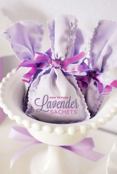 DIY Tutorial: How to Make Lavender Sachets
