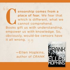 Ellen Hopkins quote. Freedom to Read Week.