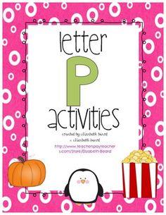Letter P Activities - Preschool and Kindergarten