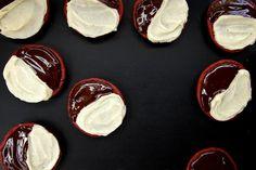 red velvet black and white cookies // JTB