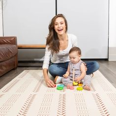 Beige Mudcloth Foam Baby Play Mat – Childlike Behavior