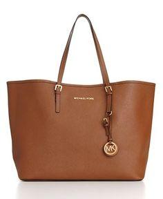 MICHAEL Michael Kors Handbag, Saffiano Medium Travel Tote - Shop All - MICHAEL Michael Kors - Handbags & Accessories - Macy's - StyleSays