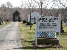 Maple Grove Cemetery  Munson Township  Geauga County  Ohio  USA