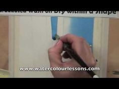 "Watercolor Painting lesson - FREE Tips'n'Tricks - ""Graduated Wash on Dry within a Shape"" paint lesson, watercolor paintings, art tutori, lesson on paint"