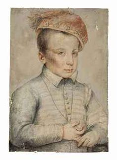 CLOUET François - French (Tours circa 1515-1572 Paris) -  Portrait of a boy, possibly Henri (future king) de France