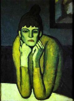 Picasso = Woman with Chignon 1901 Oil on canvas Fogg Art Museum Harvard University Cambridge MA, USA