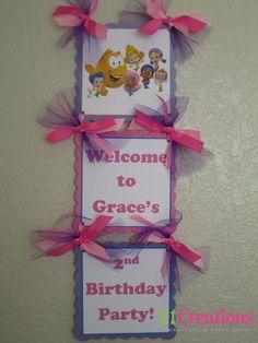 Bubble Guppies Door Sign - do in boy colors