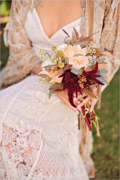 warm earth wedding bouquet