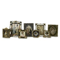 Vintage Victorian Styled Jeweled Photo Picture Frames