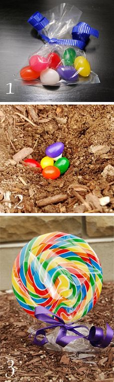 Plant some jelly beans for an Easter surprise!  Fun for the little ones!