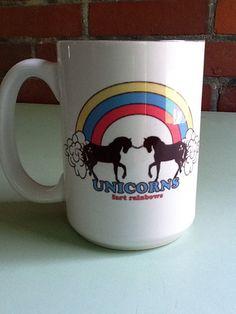 Unicorns Fart Rainbows Mug by TheFoundryByMYM on Etsy, $15.00