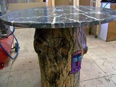 Nuestros muebles on pinterest mesas and patchwork - Reciclar marmol ...