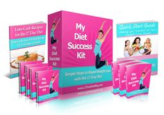 My Diet Success Kit -- tools you need to help you achieve your weight loss goals.  Kit includes sample menus, food journals, checklists, Low-Carb Recipe Book, Cycle Food Lists, Grocery Shopping Lists, Daily Weight Tracker and more! #17DayDiet