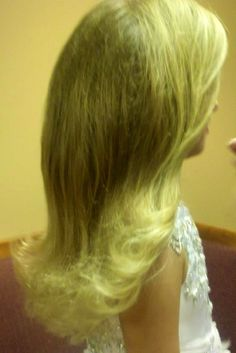 Perfect Pageant hair. Well, Haley Jo's perfect pageant hair-barbie flip looks best on her. :)