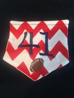 Cute shirt for football season. Put your favorite players number and use your team's colors.