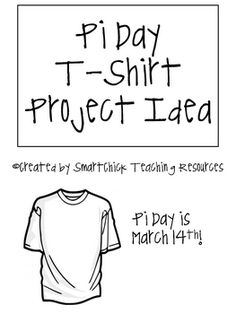 "FREEBIE!  A fun way to celebrate Pi-Day!  Each student designs a Pi Day t-shirt using the pi symbol and the word ""pi""!  Just like  Vam ""Pi""re Bat!  Makes a cute bulletin board display!"