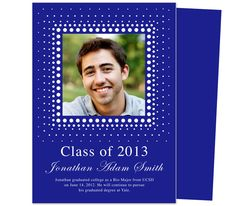 Graduation Announcements Templates: Printable DIY Alpha Graduation Announcement Template with custom photo box