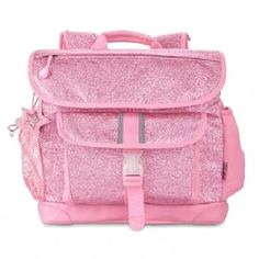 This sparkly pink comfort fit backpack by Bixbee is sure to make back-to-school season a blast!  Built to be lightweight, comfortable and durable, our backpacks are perfect for keeping unnecessary weight off kids' backs.  Contoured air-mesh adjustable sho