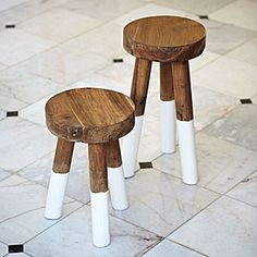 serena & lily  Dip-Dyed Stools